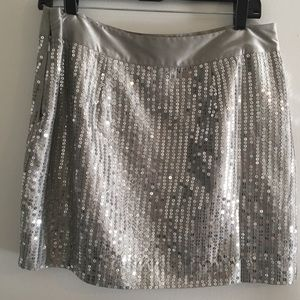 Sequin mini skirt from gap, size 10